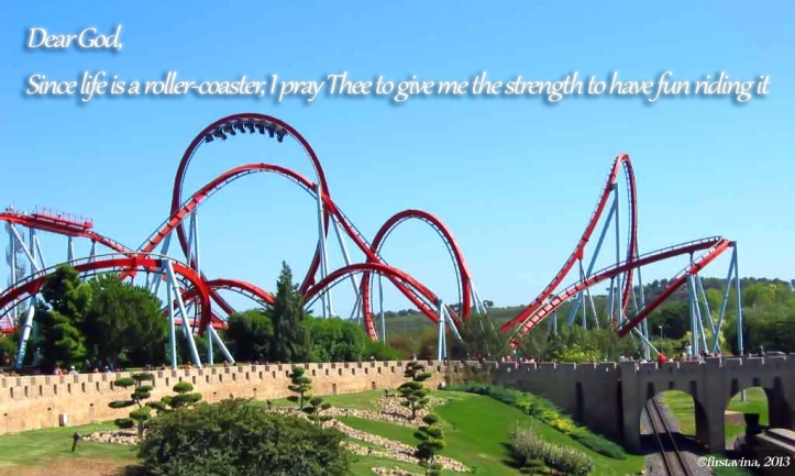 Have fun! Life is a Roller Coaster