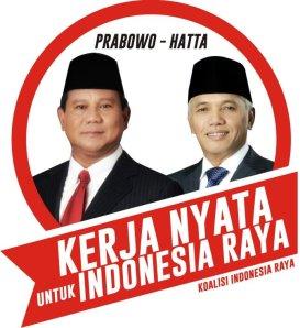 """Logo Capres Cawapres """"Prabowo - Hatta Rajasa"""" (courtesy of utusanriau.com)"""