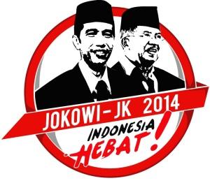 "Logo Capres Cawapres ""Jokowi - Jusuf Kalla"" (courtesy of TimikaExpres)"