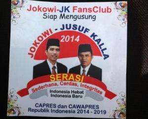 """Logo Capres Cawapres """"Jokowi - Jusuf Kalla"""" (courtesy of detiknews.com)"""