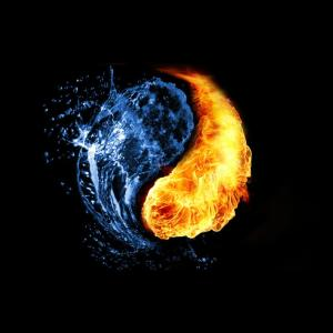 water and fire. yin and yang. (source: google image)